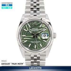 Rolex DayJust 126234 Palm Motif